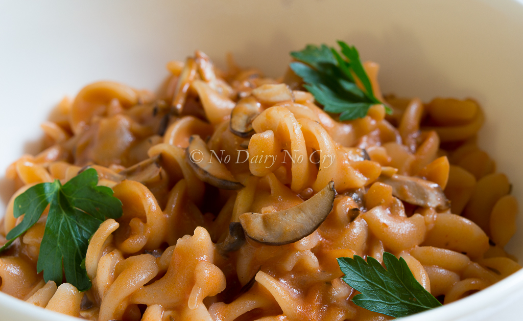 Fusilli with Cremini Mushroom Sauce