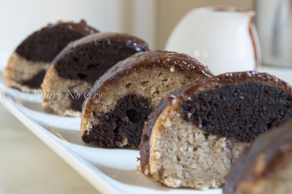 Tahini Marble Bundt Cake