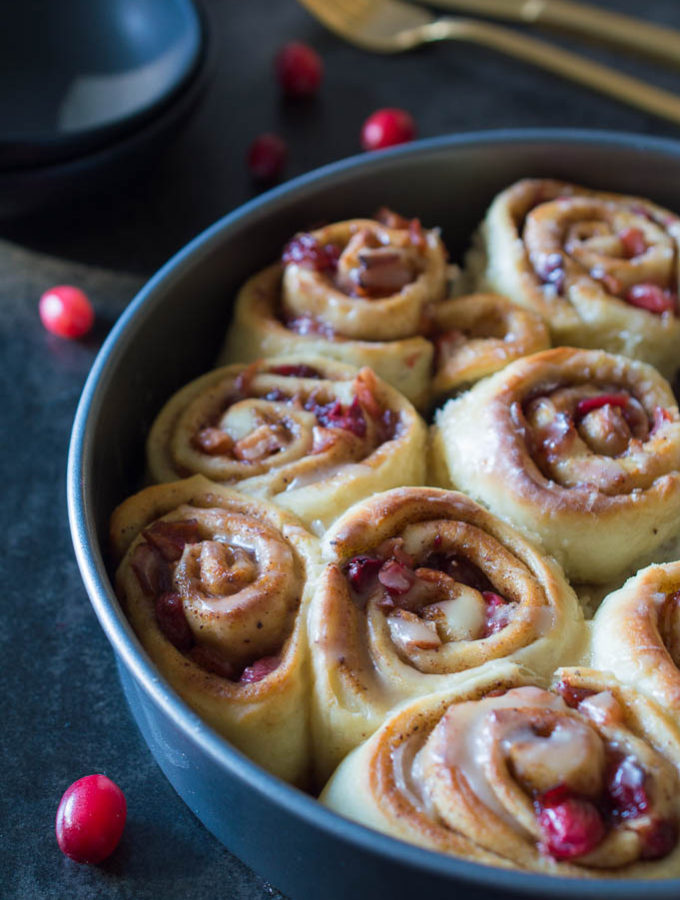 Cranberry Apple Cinnamon Rolls