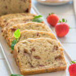 strawberry basil chia loaf cake 8