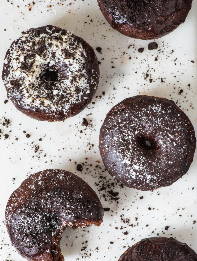 Perfectly Baked Chocolate Pumpkin Donuts