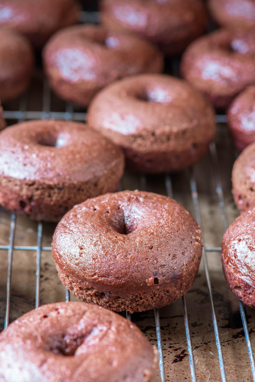 PERFECT Chocolate Pumpkin Donuts7