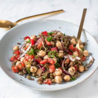 Lentil Chickpea Salad10